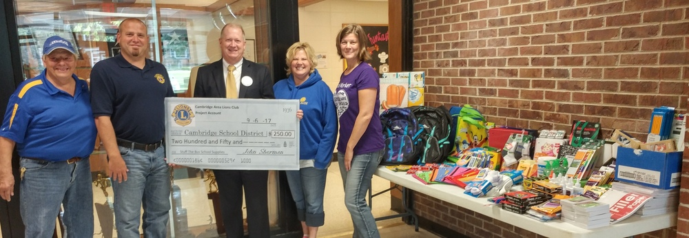 "Lions Club ""Stuff a Bus School Supplies"" Donation"