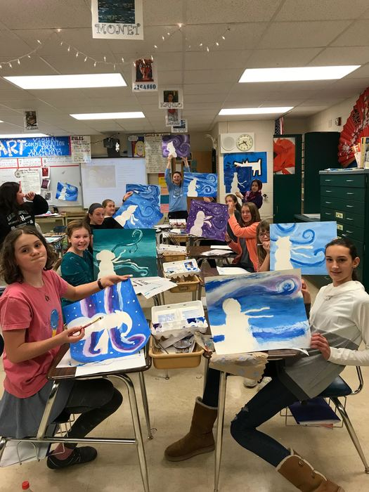 Art Club Paintings