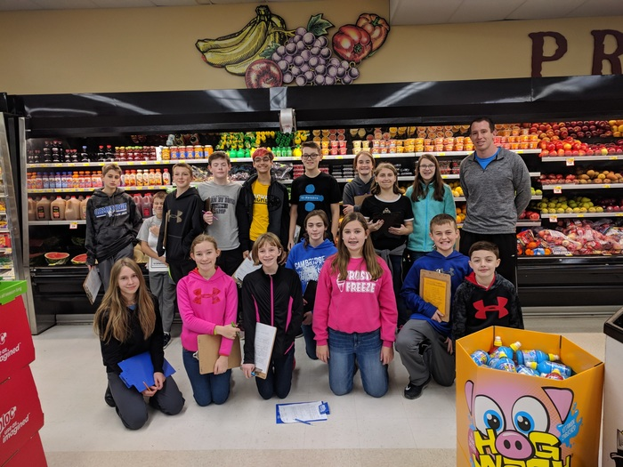 7th grade students take a trip to Piggly Wiggly to practice reading food labels, compare nutritional values of foods and even try to find the healthiest food in the store.