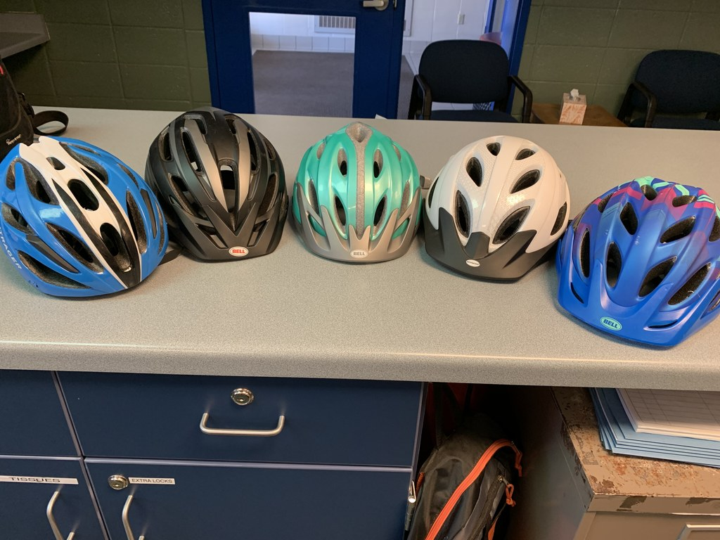 Lost and found - bike helmets